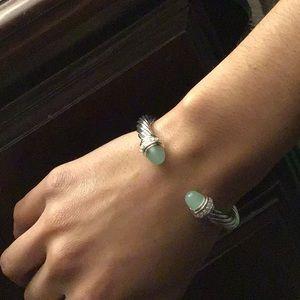David Yurman 7mm Chalcedony and Diamond bracelet!!